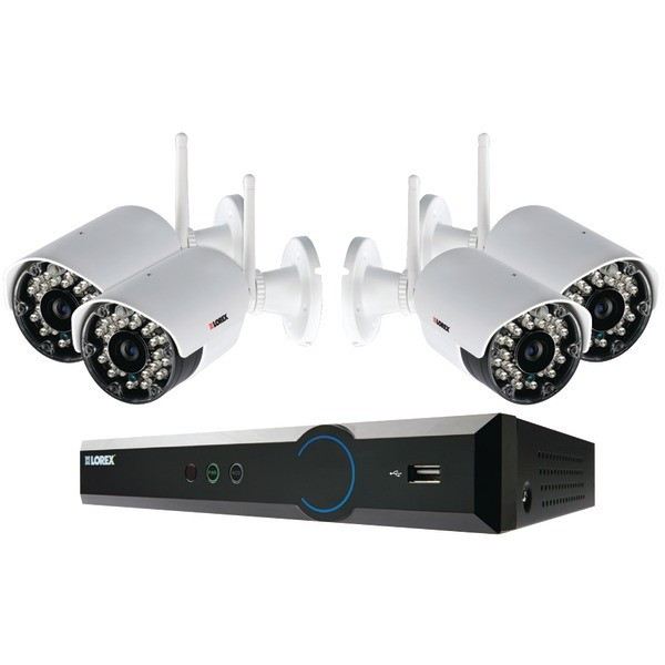 LOREX ECO Black Box 960H 4-Channel Stratus DVR with 4 Wireless Cameras MODEL LH03045GC4W