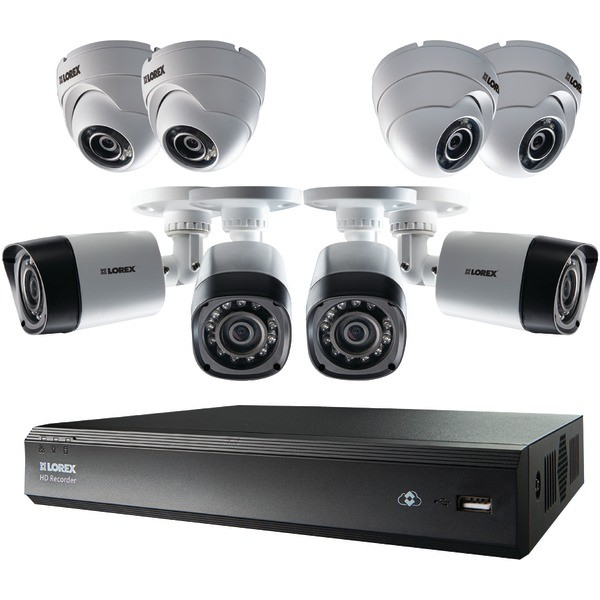 LOREX 16-Channel MPX HD DVR with 1TB and 8 720p Cameras (4 Bullet/4 Dome) Model LHV00161TC8PM