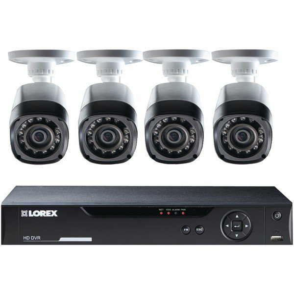 LOREX 8-Channel 2TB Real-Time 720p HD CCTV with 4 Cameras Model LHV10082TC4