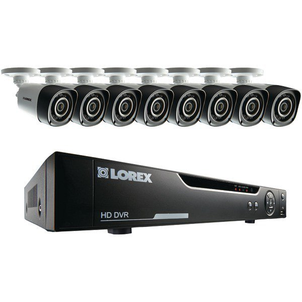 LOREX 16-Channel 720p HD Security System with Eight 720p HD Cameras Model LHV10162TC8