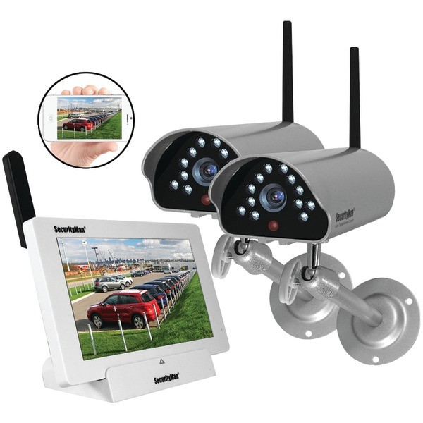 SECURITYMAN Indoor/Outdoor iSecurity Digital Wireless Camera System Model DIGILCDNDVR2