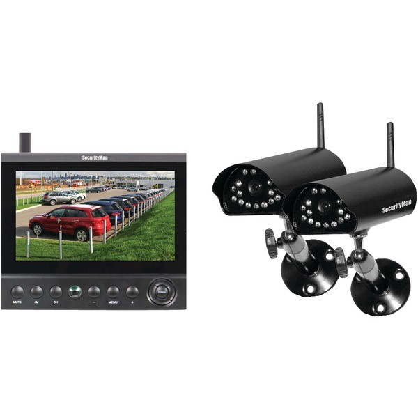 SECURITYMAN Digital Wireless Cameras LCD/DVR System Model DigiLCDDVR2